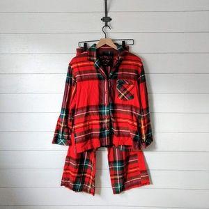 Victoria's Secret Plaid Flannel Pajama Set Small